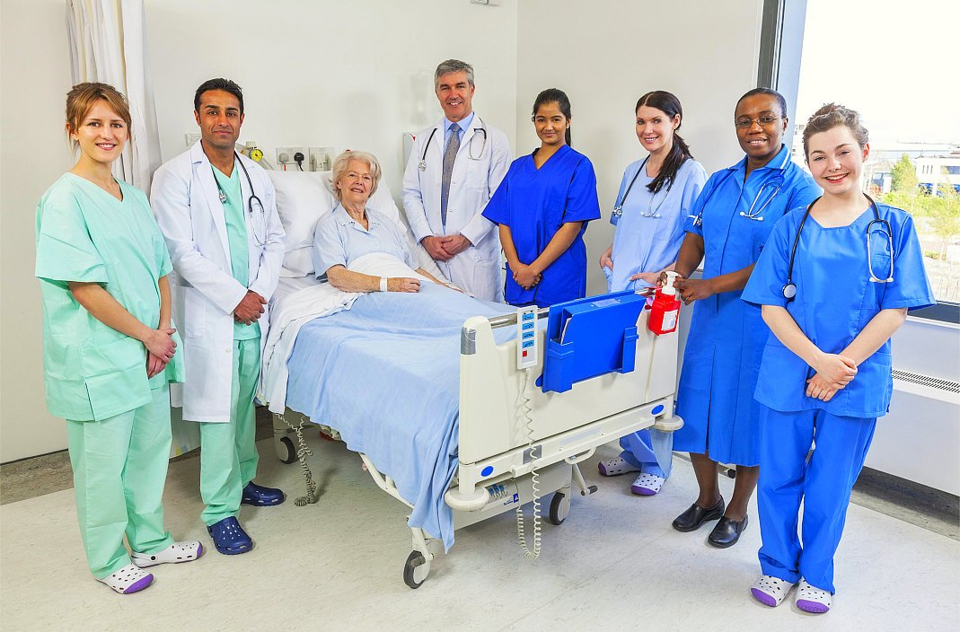 medical staff of the hospital and the patient