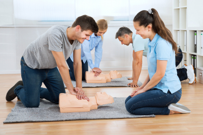CPR class demonstration